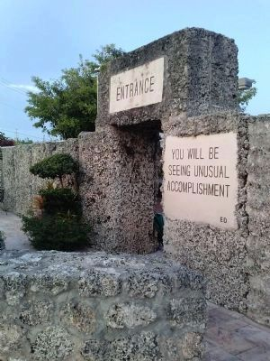 Coral Castle entrance image. Click for full size.