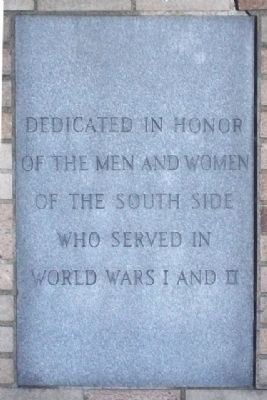 South Side World Wars Memorial Marker image. Click for full size.