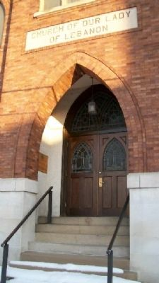 Our Lady of Lebanon Church Entrance image. Click for full size.