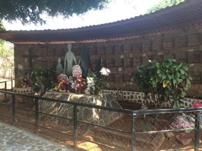 El Mozote Memorial and mass grave image. Click for full size.