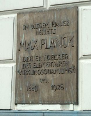 Max Planck Marker image. Click for full size.