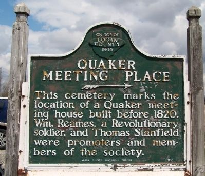 Quaker Meeting Place Marker image. Click for full size.