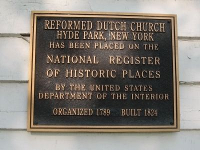 Reformed Dutch Church Hyde Park Marker image. Click for full size.