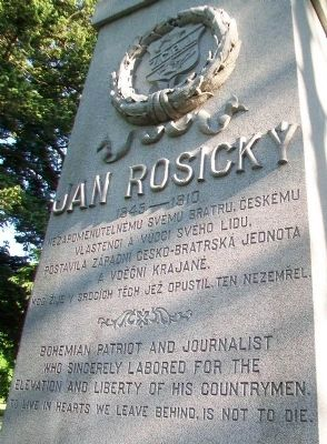 Jan Rosicky Monument Detail image. Click for full size.