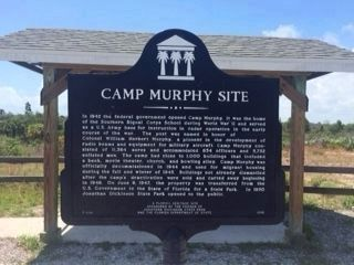 Camp Murphy Site Marker (new location) Photo, Click for full size