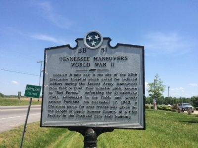 Tennessee Maneuvers World War II Marker image. Click for full size.