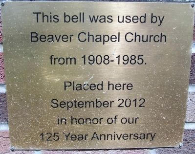 Beaver Chapel Church Marker image. Click for full size.