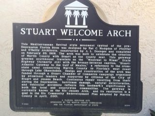 The Stuart Welcome Arch Marker image. Click for full size.