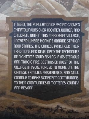 The Native People of this Coastal Area Marker - Second Panel image. Click for full size.