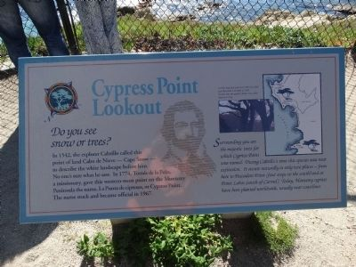 Cypress Point Lookout Marker image. Click for full size.