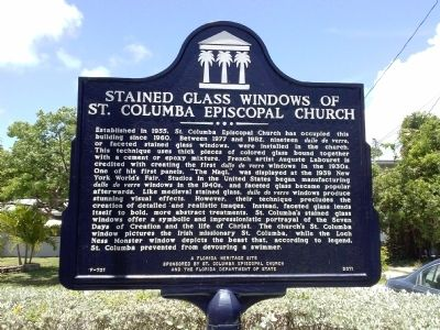 Stained Glass Windows of St. Columba Episcopal Church Marker image. Click for full size.