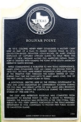 Bolivar Point Marker image. Click for full size.