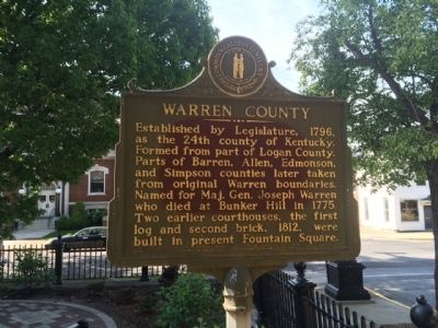 Warren County Marker image. Click for full size.