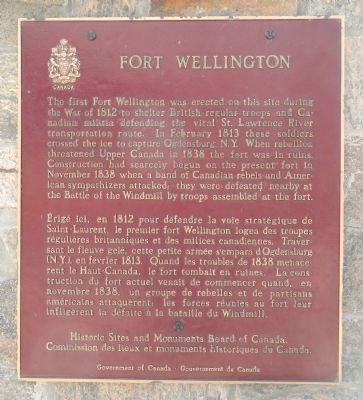 Fort Wellington Marker image. Click for full size.