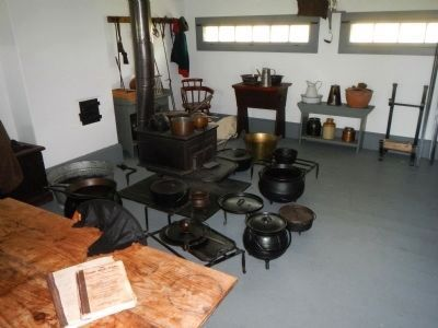 Fort Wellington Blockhouse, interior image. Click for full size.