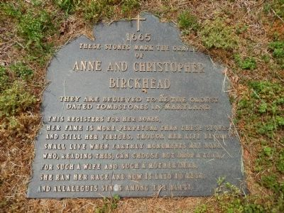 Anne and Christopher Birckhead Marker image. Click for full size.