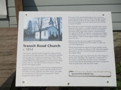 Transit Road Church Marker image. Click for full size.