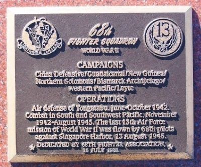 68th Fighter Squadron Marker image. Click for full size.