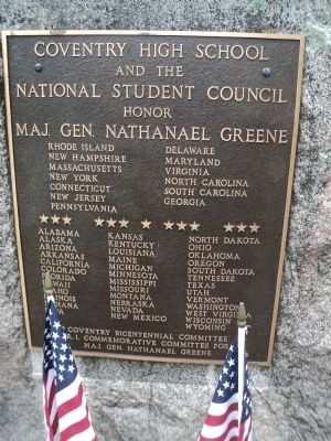Nathanael Greene Memorial Marker image. Click for full size.