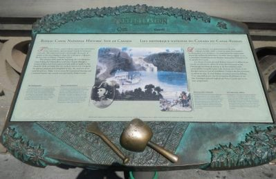 Rideau Canal National Historic Site of Canada Marker image. Click for full size.