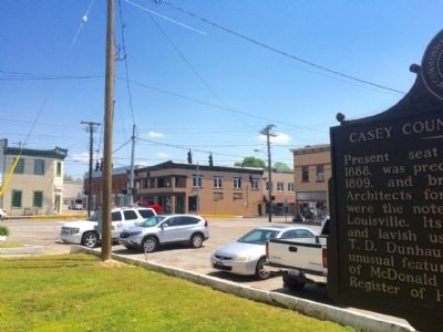 View of marker looking towards Campbellsville Street. image. Click for full size.
