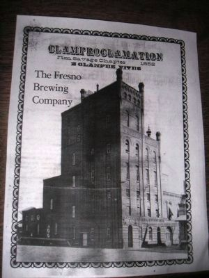 The Fresno Brewing Company Clamproclamation image. Click for full size.