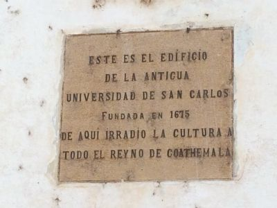 The University of San Carlos Marker image. Click for full size.