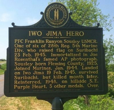 Iwo Jima Hero Marker image. Click for full size.