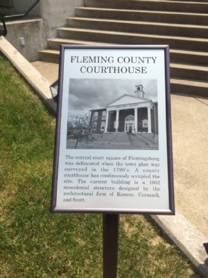 Fleming County Courthouse Sign image. Click for full size.
