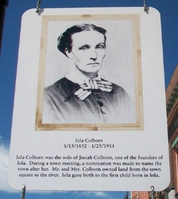 Iola Colborn Marker image. Click for full size.