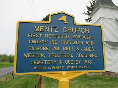 Mentz Church Marker image. Click for full size.