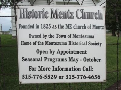 Mentz Church Contact Information Sign image. Click for full size.