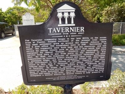 Tavernier Marker (reverse side) image. Click for full size.