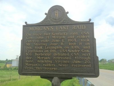 Morgan's Last Raid Marker image. Click for full size.