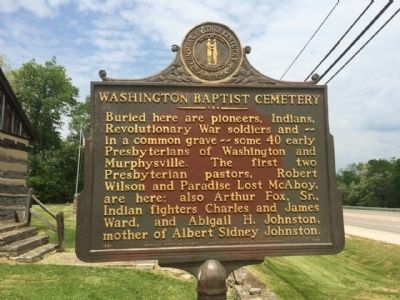 Washington Baptist Cemetery Marker image. Click for full size.