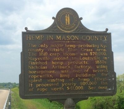 Hemp in Mason County Marker image. Click for full size.