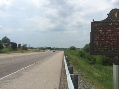 View west on U.S. Highway 62. image. Click for full size.