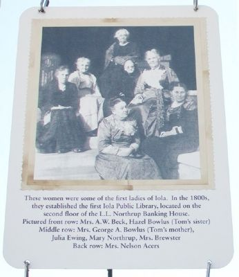 Founders of the Iola Public Library Marker image. Click for full size.