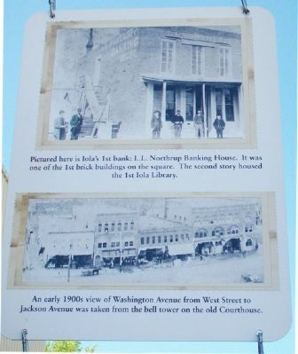 Northrup Bank and North Washington Street Businesses Marker image. Click for full size.