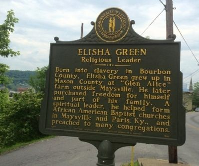 Elisha Green - Religious Leader Marker (Side 1) image. Click for full size.