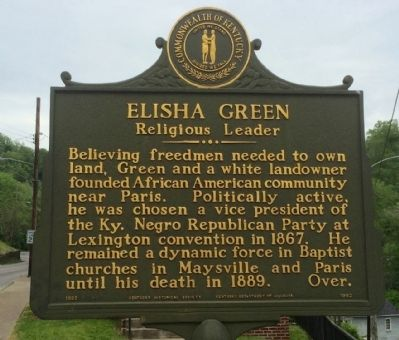 Elisha Green - Religious Leader Marker (Side 2) image. Click for full size.