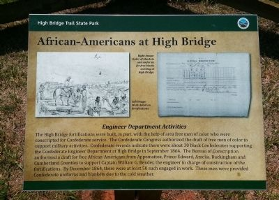 African-Americans at High Bridge Marker image. Click for full size.