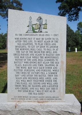To the Confederate Dead 1861 – 1865 image. Click for full size.