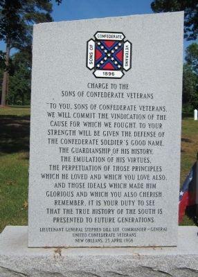Charge to the Sons of Confederate Veterans image. Click for full size.