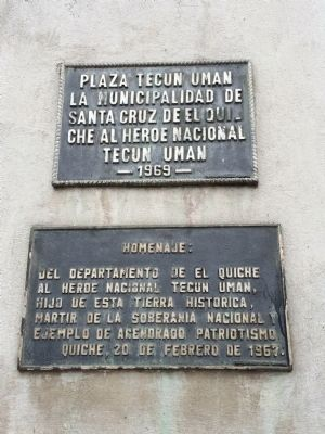 Plaza Tecún Umán Marker image. Click for full size.