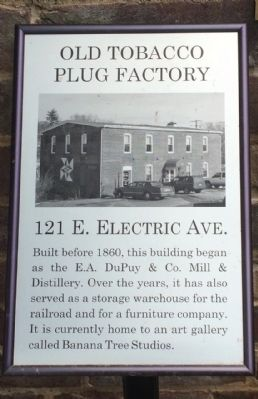 Old Tobacco Plug Factory Marker image. Click for full size.