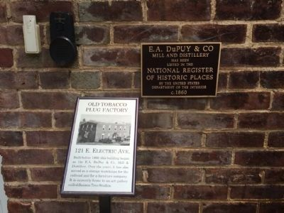 Old Tobacco Plug Factory & National Landmark markers. image. Click for full size.