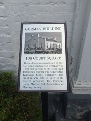 Gorman Building Marker image. Click for full size.