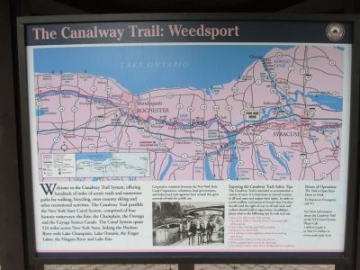 The Canalway Trail Information Panel image. Click for full size.