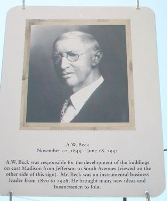 A.W. Beck Marker image. Click for full size.